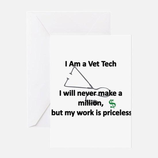 vet tech priceless Greeting Cards