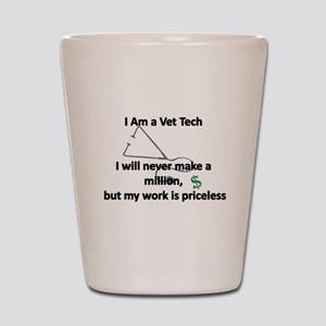 vet tech priceless Shot Glass