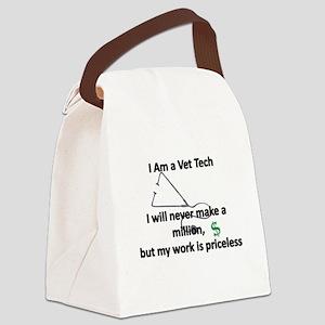 vet tech priceless Canvas Lunch Bag