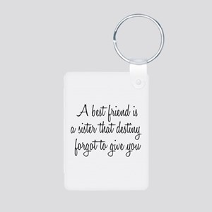 Best Friend Aluminum Photo Keychain