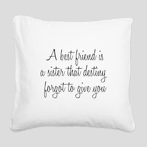Best Friend Square Canvas Pillow