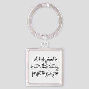 Best Friend Square Keychain