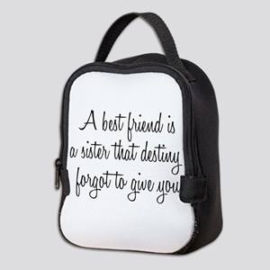 Best Friend Neoprene Lunch Bag