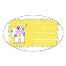 Mad Cow Oval Sticker