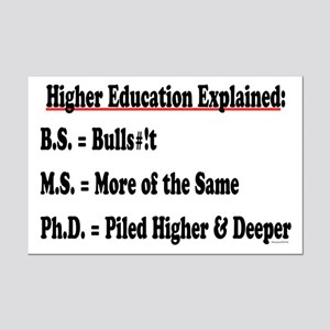 Higher Education Mini Poster Print