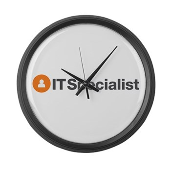 IT Specialist Large Wall Clock