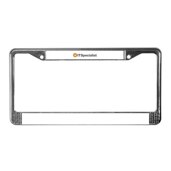 IT Specialist License Plate Frame