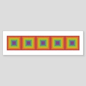 Rainbow Tiles & More #4 - Bumper Sticker