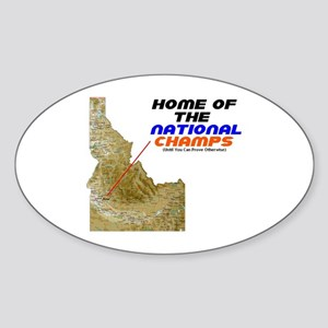 National Champ Oval Sticker