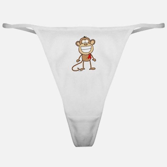Red Ribbon Monkey Classic Thong