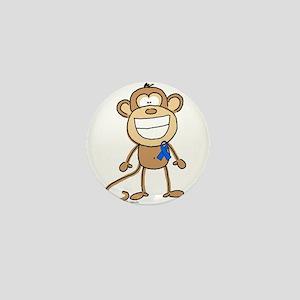 Blue Ribbon Monkey Mini Button