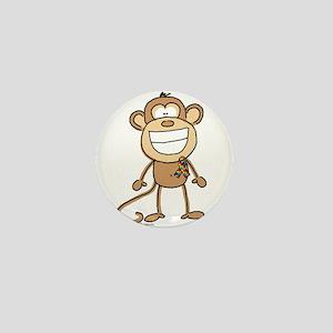 Autism Monkey Mini Button