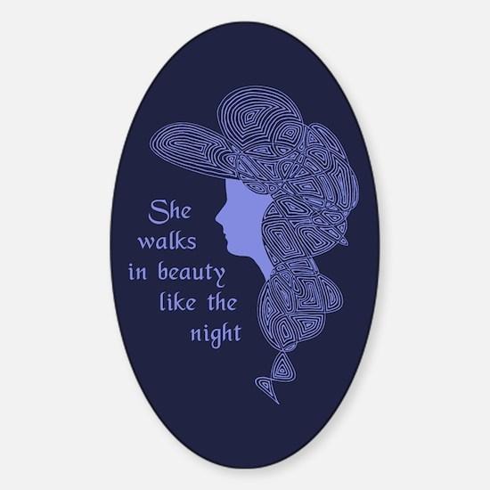 In Beauty Sticker (Oval)