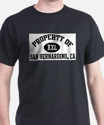 Property of SAN BERNARDINO Ash Grey T-Shirt