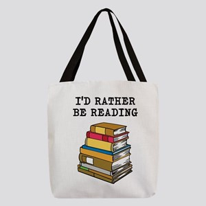 Rather Be Reading Polyester Tote Bag