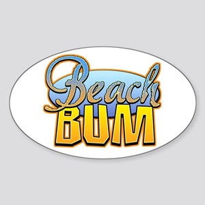 Beach Bum Oval Sticker