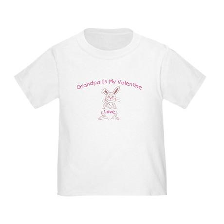 Grandpa Is My Valentine Toddler T-Shirt