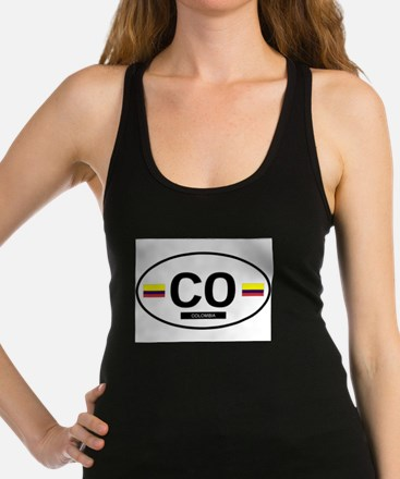 COLOMBIA.png Racerback Tank Top
