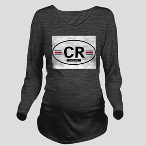 COSTA RICA Long Sleeve Maternity T-Shirt