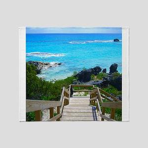 Church Bay Bermuda Tropical Beach Throw Blanket