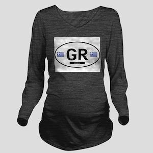 GREECE Long Sleeve Maternity T-Shirt