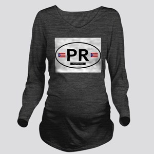PUERTO RICO Long Sleeve Maternity T-Shirt
