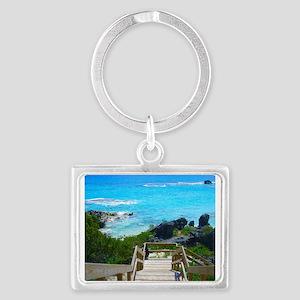 Church Bay Bermuda Tropical Beach Keychains