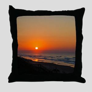 Topsail Island North Carolina Beach Sunset Throw P