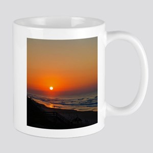 Topsail Island North Carolina Beach Sunset Mugs