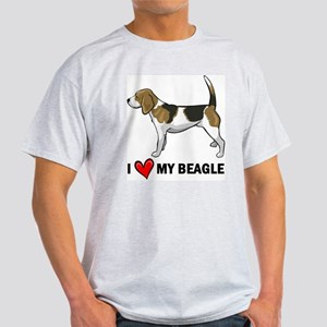 I Heart My Beagle Ash Grey T-Shirt