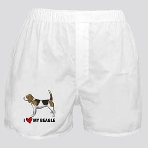 I Heart My Beagle Boxer Shorts