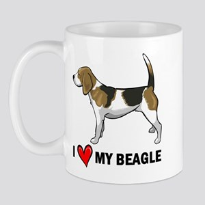 I Heart My Beagle Mug