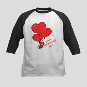 Happy Valentine's Day Bear & Kids Baseball Jersey