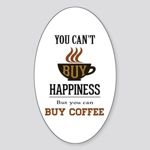 Coffee Saying Sticker (Oval)