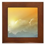 Sunset in the Clouds Framed Tile