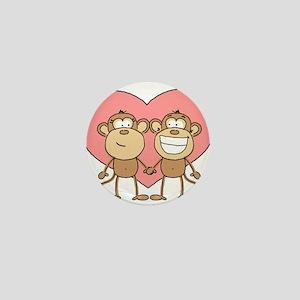 Monkey Love Couple Mini Button