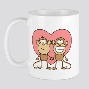 Monkey Love Couple Mug