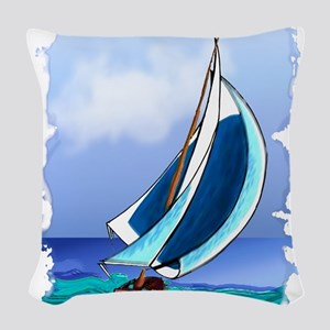 Sailing Away Woven Throw Pillow