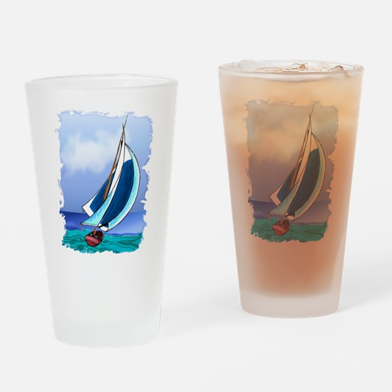 Sailing Away Drinking Glass