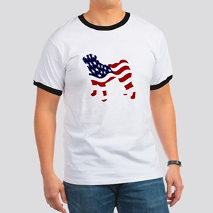 Patriotic Pug - Ringer T