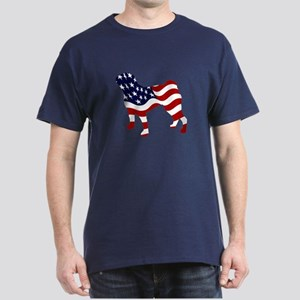 Patriotic Pug - Dark T-Shirt