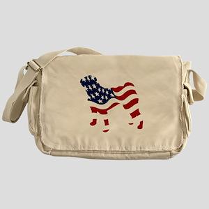 Patriotic Pug - Messenger Bag