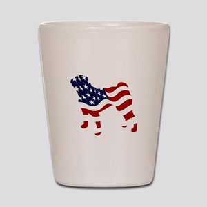 Patriotic Pug - Shot Glass