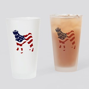 Patriotic Pug - Drinking Glass
