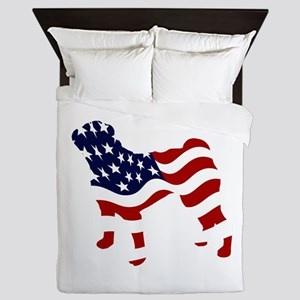 Patriotic Pug - Queen Duvet