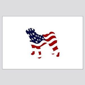 Patriotic Pug - Large Poster