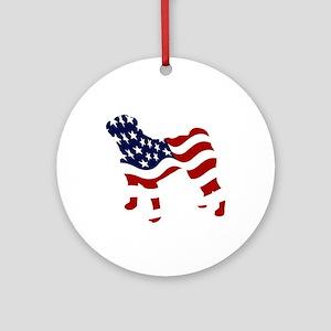 Patriotic Pug - Ornament (Round)