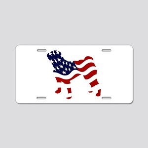 Patriotic Pug - Aluminum License Plate
