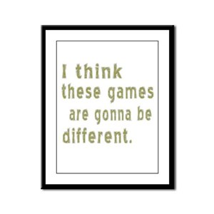 Think Games Different Framed Panel Print