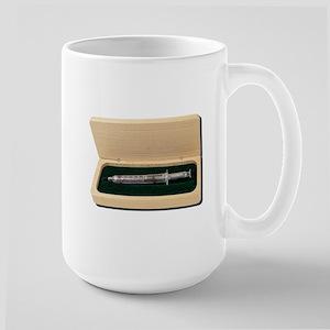 UsedSyringeWoodenBox070111 Mugs
